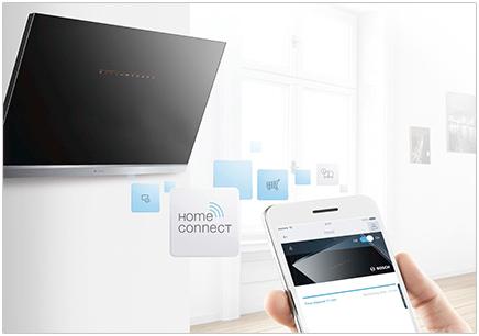 Visuel représentant une hotte Home Connect