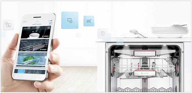 Visuel représentant un lave-vaisselle Home Connect
