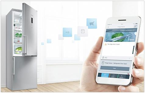 Visuel représentant un réfrigérateur Home Connect