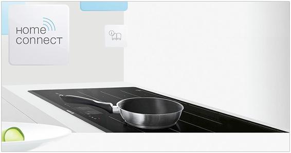 Visuel représentant une table de cuisson Home Connect