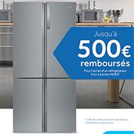 Pour l'achat de certains réfrigérateurs multiportes, Haier rembourse jusqu'à 500€