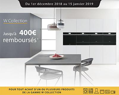Offre Whirlpool : jusqu'à 400 Euros remboursés sur certains équipements de la gamme W Collection