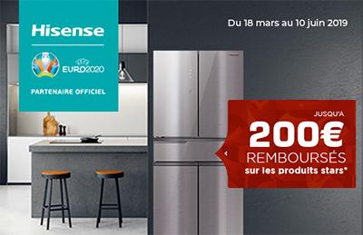 ODR Hisense : jusqu'à 200 Euros remboursés sur certains réfrigérateurs
