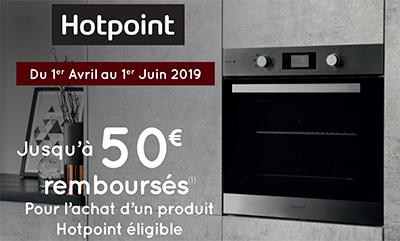 Jusqu'à 50 Euros remboursés sur certains équipements électroménager Hotpoint de la gamme cuisson