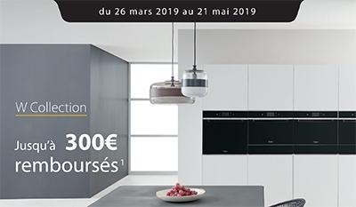 Whirlpool rembourse jusqu'à 300 Euros pour l'achat de certains équipements électroménager de la gamme W Collection chez certains revendeurs