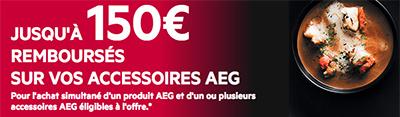 ODR AEG : Jusqu'à 150 Euros remboursés pour l'achat simultané d'appareils électroménager avec des accessoires