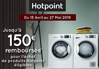 Hotpoint rembourse jusqu'à 150 Euros pour l'achat de certains appareils électroménager