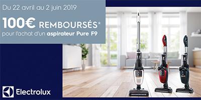 Offre de remboursement Electrolux : 100 Euros remboursés sur les aspirateurs balais Pure F9