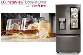 Photo du réfrigérateur LG InstaView Door-in-Door avec Craft Ice - (crédit : LG)