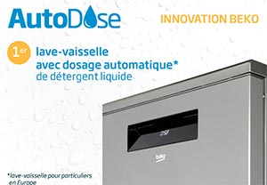 Illustration d'un lave-vaisselle Beko AutoDose - (crédit : Beko)