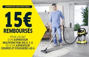 ODR aspirateur Karcher : 15 Euros remboursés