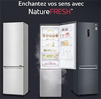 Illustration des réfrigérateurs LG NatureFRESH - (crédit : LG)
