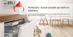 Illustration d'un lave-vaisselle PerfectDry - (crédit : Bosch)