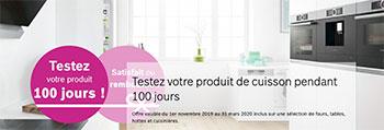 Bosch propose une offre satisfait ou remboursé sur certains appareils de cuisson
