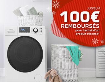 La marque Hisense rembourse jusqu'à 100 Euros sur l'achat de certains appareils électroménager