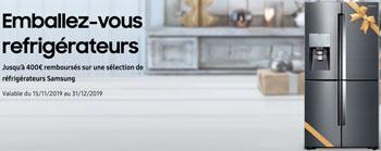 ODR réfrigérateurs Samsung : jusqu'à 400 Euros remboursés