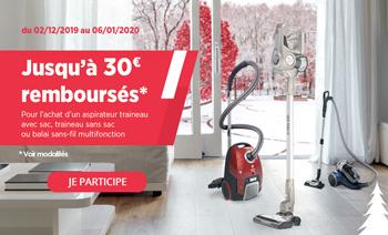 Hoover rembourse jusqu'à 30 euros pour l'achat de certains aspirateurs
