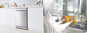 Illustrations d'un lave-vaisselle LG avec système vapeur TrueSteam - (crédit : LG)