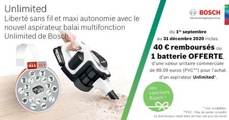 ODR Bosch : aspirateur 10% remboursés