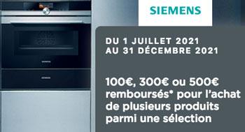 ODR Siemens : jusqu'à 500€ remboursés pour l'achat de plusieurs équipements électroménager Siemens