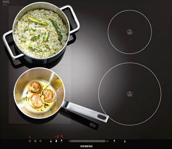 Table de cuisson flexible flexInduction - (crédit : Siemens)