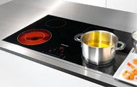 Visuel d'une table de cuisson vitrocéramique