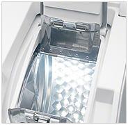 Illustration d'un sèche linge top avec système d'ouverture à arrêt positionné - (crédit : Miele)