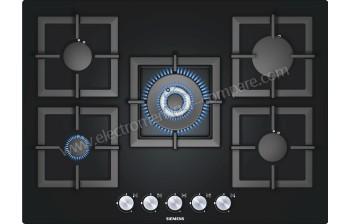 table cuisson gaz verre 70cm ep716qb21e noir. Black Bedroom Furniture Sets. Home Design Ideas