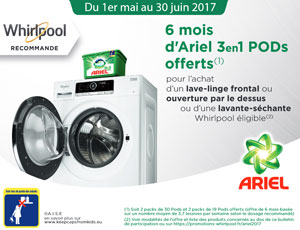 Bon Plan Whirlpool 6 Mois Dariel 3en1 Pods Offerts