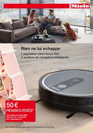 Miele vous rembourse 50 € pour l'achat d'un aspirateur robot