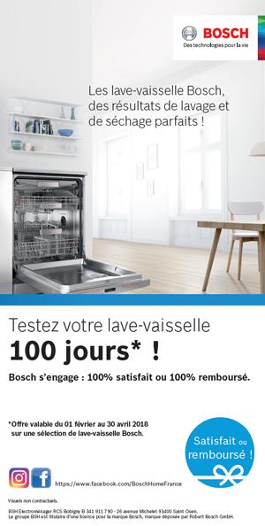 énorme réduction bbc55 d3377 Bon Plan Bosch Fév./Avr. 2018 : Testez votre lave-vaisselle ...