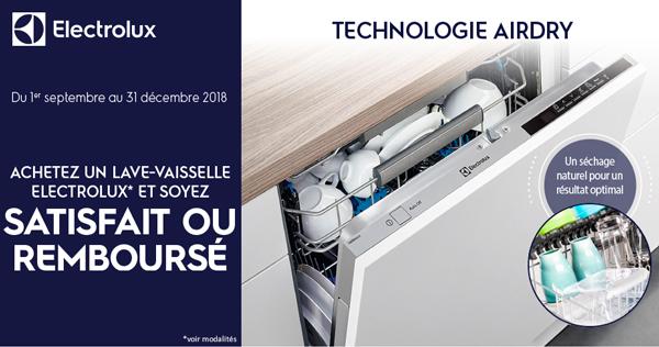 magasin en ligne bdf64 9a26d Bon Plan Electrolux Sept./Déc. 2018 : Satisfait ou remboursé