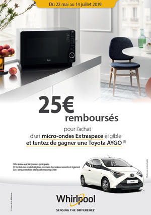 Odr Whirlpool Maijuill 2019 Offre Micro Ondes Extraspace